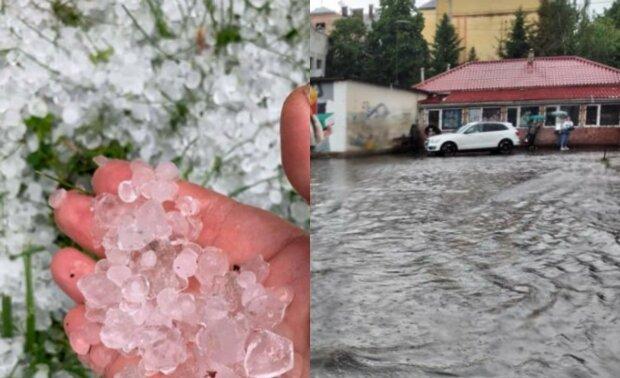 В останні дні весни в Україні розгулялась негода: Ураган перетворив вулиці  на річки та засипав градом розміром з яйце - Єдині Новини